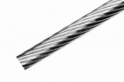 5 mm 1x19 Wire Rope, stainless steel AISI 316, sold in 1m steps