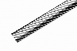 6 mm 1x19 Wire Rope, stainless steel AISI 316, sold in 1m steps