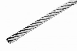 2 mm 7x19 Wire Rope, stainless steel AISI 316, sold in 1m steps