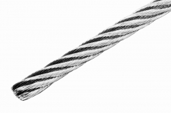 5 mm 7x19 Wire Rope, stainless steel AISI 316, sold in 1m steps