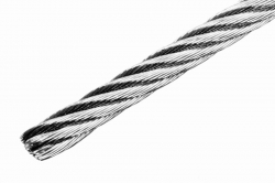 6 mm 7x19 Wire Rope, stainless steel AISI 316, sold in 1m steps